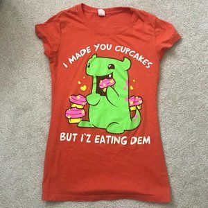 Graphic Fitted Tee Cupcake Monster Sz S